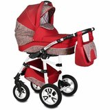 Carucior Flamingo Easy Drive 3 in 1 Vessanti - Red